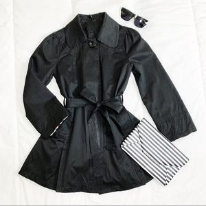 Ambition Black Trench Coat, Fully Lined Jacket